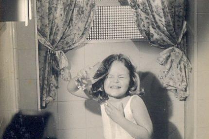 Primeiro trabalho em publicidade, aos 4 anos