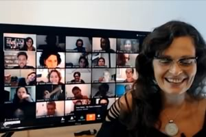 Fluxonomy Training: Telepresence class connecting people in 28 Brazilian cities and two countries in 2016.