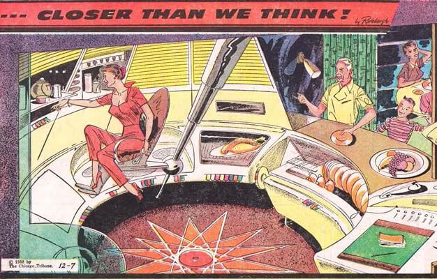 Internet das Coisas? Automatic Kitchens de Arthur Radebaugh para o Chicago Tribune (1935)